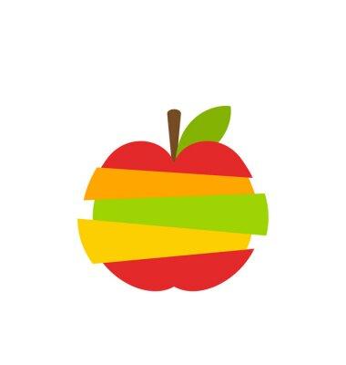 Nálepka Různé typy Ovoce Plátky Skládaný