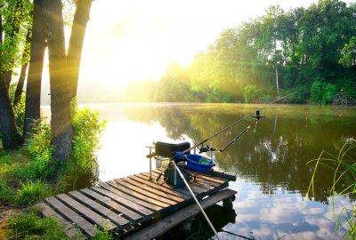 Nálepka Rybaření na řece