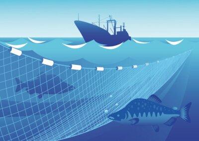 Nálepka Rybaření v moři
