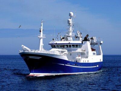 Nálepka Rybářské plavidlo P1, rybářské plavidlo, které probíhají do přístavu přistát ryb.