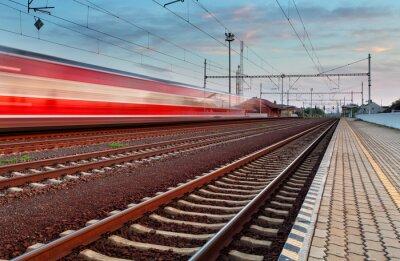 Nálepka Rychlost vlaku ve stanici