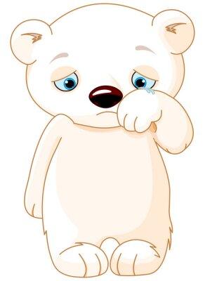 Nálepka Sad Polar Bear