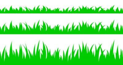 Nálepka Sada bezešvé trávy.
