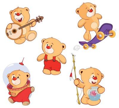 Nálepka Sada medvědi karikatury