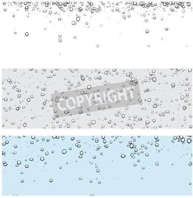 Nálepka Sada pozadí s bublinkami. Vektorové ilustrace vody.