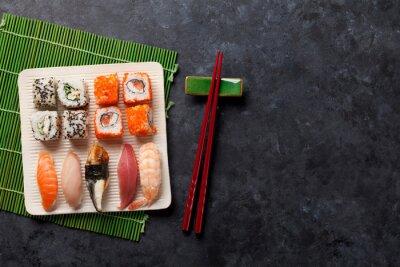 Nálepka Sada sushi a maki válcem