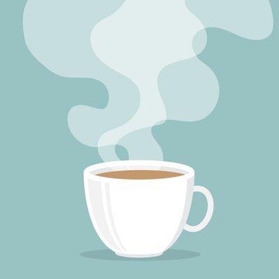 Nálepka Šálek kávy s kouřem vyplave