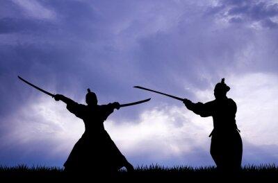 Nálepka Samurai silhouette