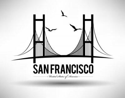 Nálepka San Francisco Bridge