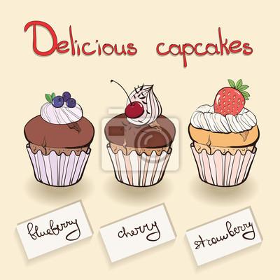 Sbírka muffin s ovocem