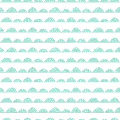 Nálepka Scandinavian bezešvé máta vzor ve stylu ručně kreslenou. Stylizované kopec řádky. Mávat jednoduchý vzor pro tkaniny, textilie a dětského prádla.