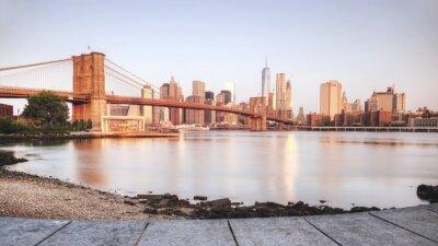 Nálepka Scenic západu slunce New Yorku od řeky