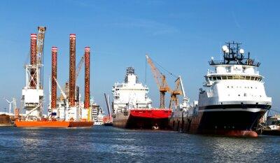 Nálepka Schiffe im Hafen