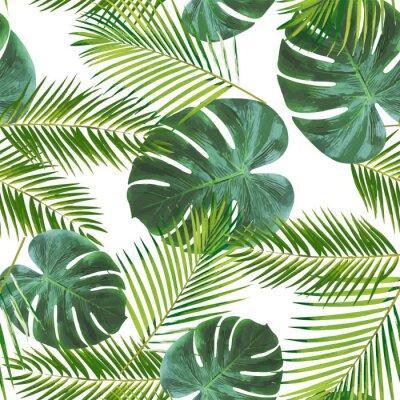 Nálepka Seamless leaft pattern background for decoration and ornament.