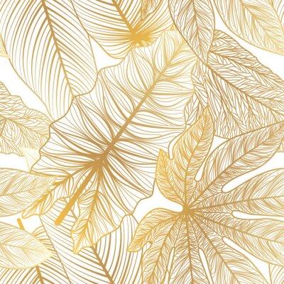 Nálepka Seamless pattern with tropical leaf palm . Vector illustration.