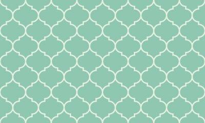 Nálepka Seamless tyrkysové široký moroccan pattern vector