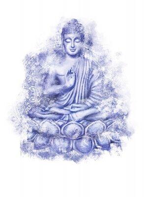 Nálepka Seated Buddha in a Lotus Pose
