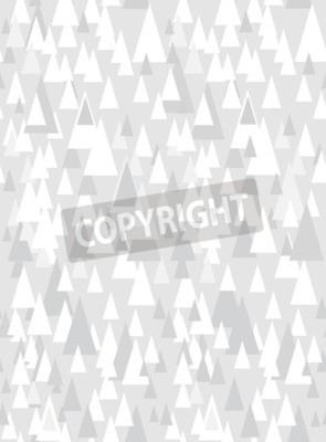 Nálepka Šedý bezešvý vzor s dekorativními trojúhelníky a kopií prostoru