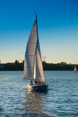 Nálepka Segelboot, blaue Stunde