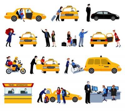 Nálepka Set Of taxislužba ikon