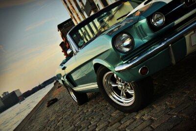 Nálepka Shelby Replika Mustang 350 v zapadajícím slunci