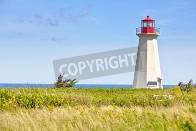 Nálepka Ship Wreck Point Lighthouse in rural Prince Edward Island, Canada.