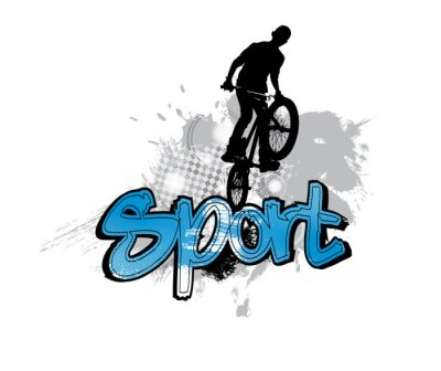 Nálepka Silueta cyklisty