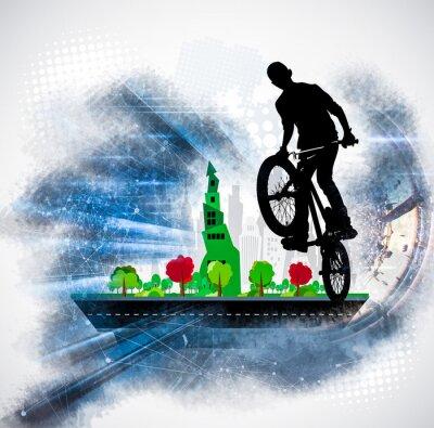 Nálepka Silueta jízdního kola