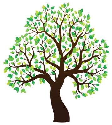 Nálepka Silueta listnatý strom téma 1