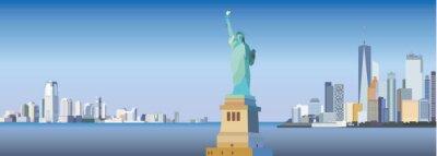 Nálepka Silueta města New York