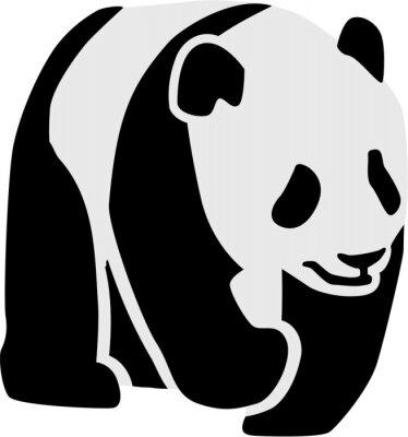 Nálepka Silueta panda