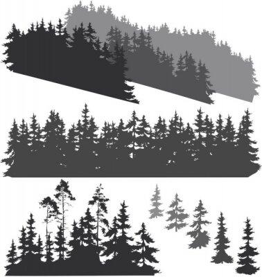 Nálepka siluety lesa