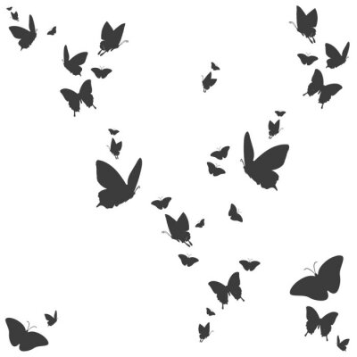 Nálepka Siluety motýlů