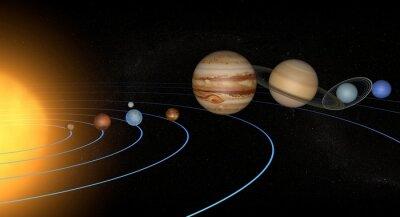 Nálepka Sistema solare pianeti spazio Universo jediným