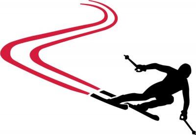 Nálepka Sjezdovka s Red Track