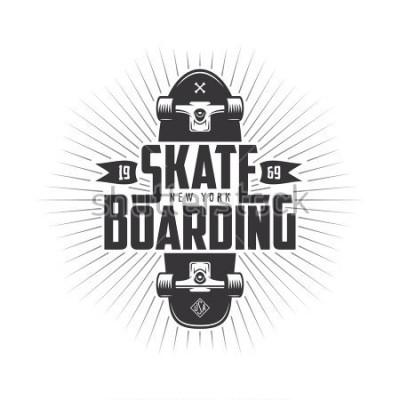 Nálepka Skateboarding t-shirt design. Urban skating. Skateboard typography. Vector vintage illustration.