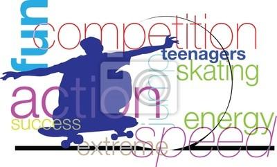 Skater ilustrace