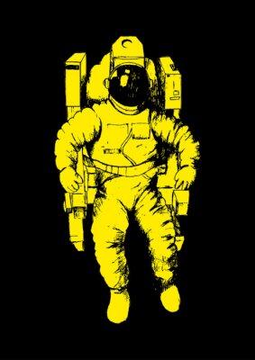 Nálepka Sketch ilustrace astronaut