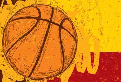 Nálepka Sketchy Basketball Background