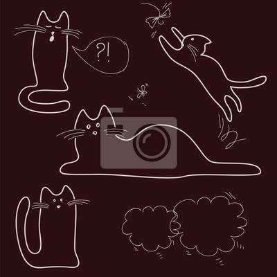 Skicy, doodle, kočky