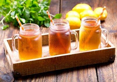 Nálepka sklenic lemon ledové čaje