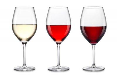 Nálepka sklenice na víno set