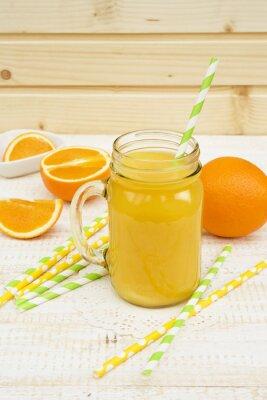 Nálepka sklenice pomerančové šťávy
