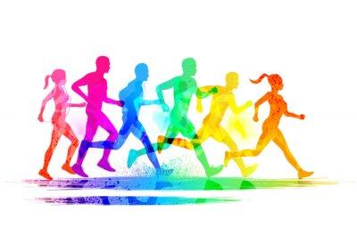 Nálepka Skupina běžců