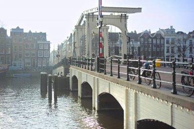 Nálepka Slavný Skinny Bridge, Amsterdam