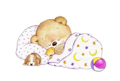 Nálepka Sleeping Teddy bear