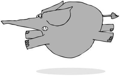 Nálepka Slon běh strach