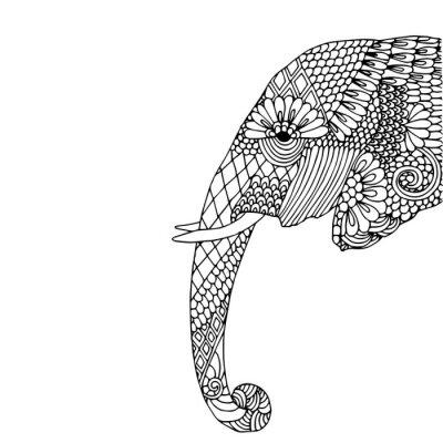 Nálepka Sloní hlava
