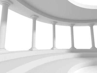 Nálepka sloupy sloupy konstrukce architekturu pozadí