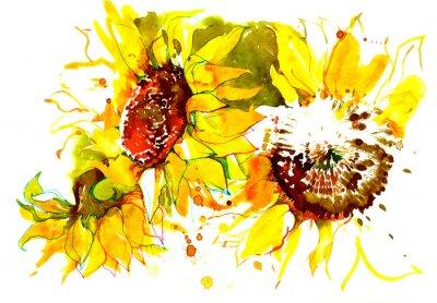 Nálepka slunečnice